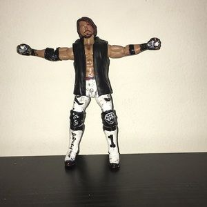 WWE HAND PAINTED ELITE AJ STYLES ACTION FIGURE